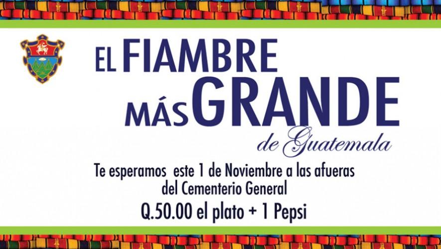 El fiambre más grande de Guatemala | Noviembre 2015
