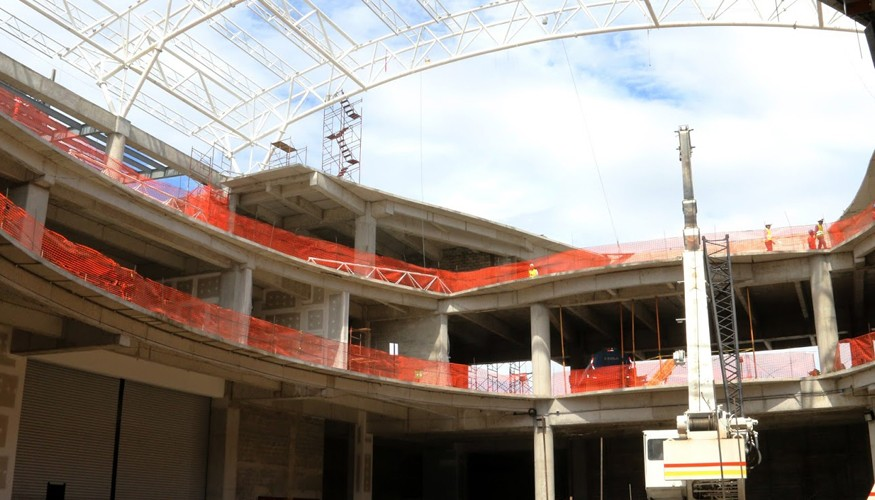 Avanza la construcción de Naranjo Mall.