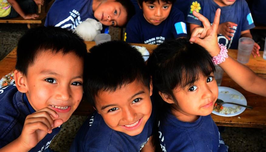 Niños en fundación Camino Seguro