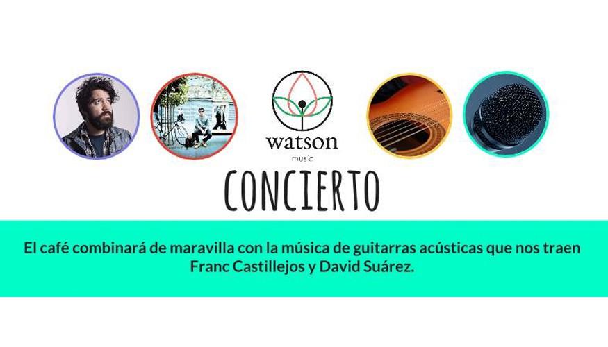 Franc Castillejos y David Suárez en Watson Books & Coffee, octubre de 2015