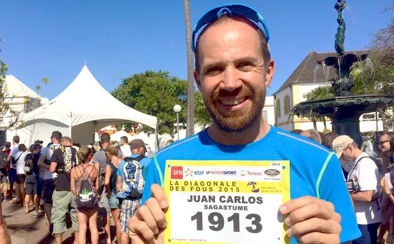 Juan Carlos Sagastume en Isla La Reunión