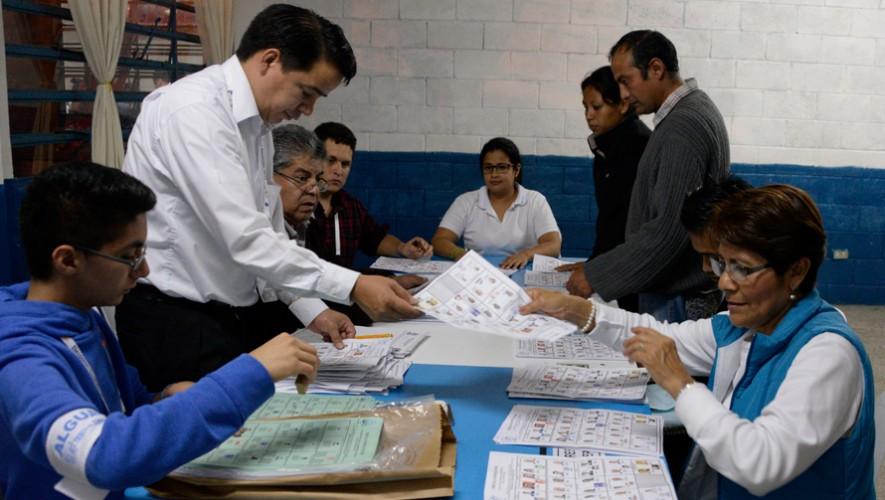 Conteo de votos Guatemala 2015