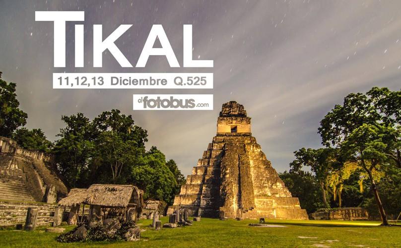 Viaje a Tikal, organizado por El Fotobus | Diciembre 2015