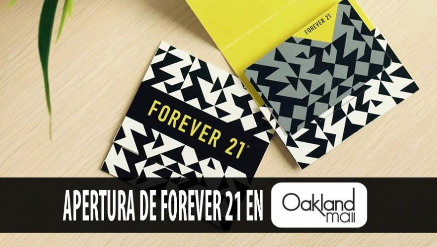 Participa y gana certificados de regalo en el nuevo Forever 21 de Oakland Mall. (Foto: Facebook Oakland Mall)