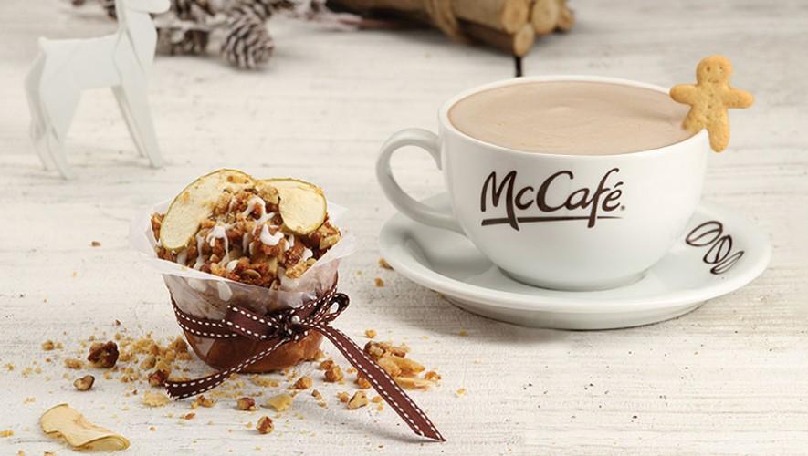 Prueba el delicioso Apple & Pecan Crumble y un Mocha en McCafé. (Foto: McDonald's Guatemala)