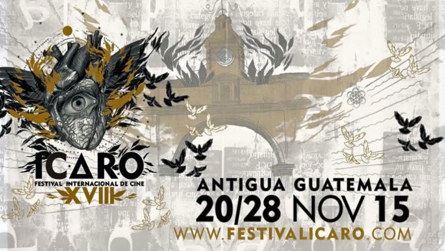 El XVIII Festival Internacional de Cine Ícaro será del 20 al 28 de noviembre en la Antigua Guatemala. (Foto: Facebook Festival Ícaro)
