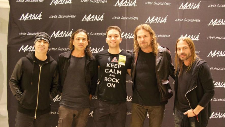 El guatemalteco Yariff Mata (al centro), junto a la agrupación mexicana Maná. (Foto: Facebook Todoticket)