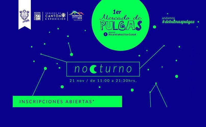 Mercado de pulgas nocturno en zona 4 | Noviembre 2015