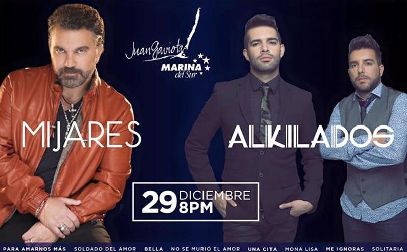 Concierto de Mijares y Alkilados en Juan Gaviota | Diciembre 2015