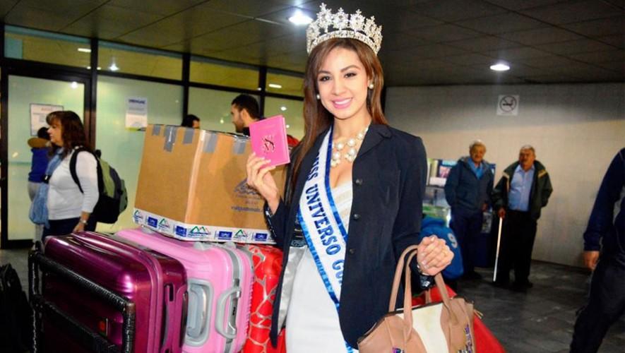 Miss Guatemala viajó a Las Vegas para comenzar con las actividades de Miss Universo 2015. (Foto: Facebook Jeimmy Aburto Miss Guatemala 2015)