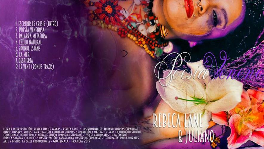 Portada y contraportada de Poesía Venenosa, EP de Rebeca Lane. (Foto: Facebook Rebeca Lane)