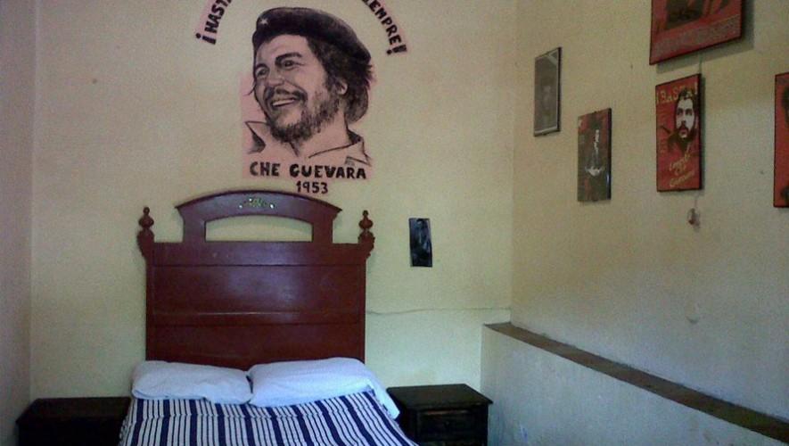 La habitación del Che Guevara en la Ciudad de Guatemala. (Foto: Facebook Pensión Meza)