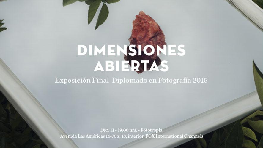 Exposición Dimensiones Abiertas   Diciembre 2015