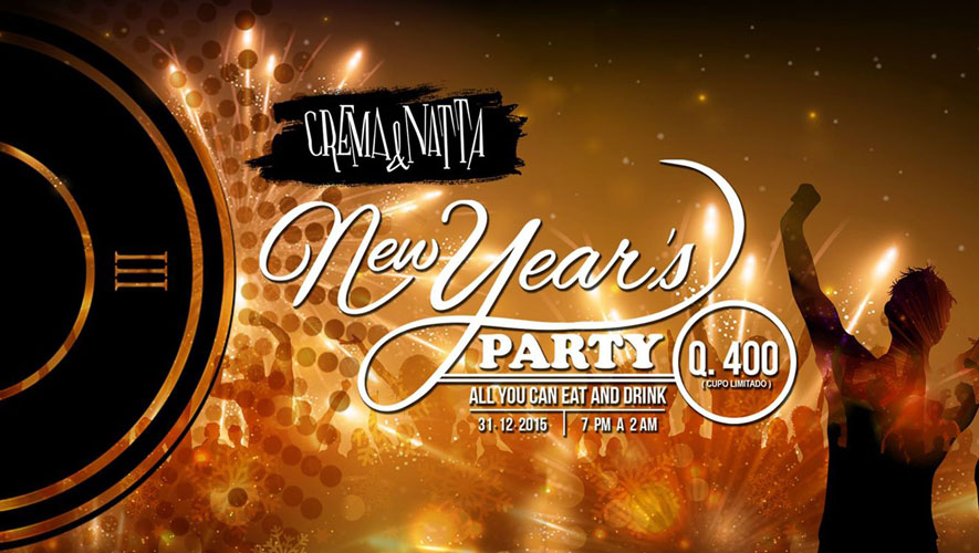 Fiesta de Año Nuevo en Crema & Natta   Diciembre 2015