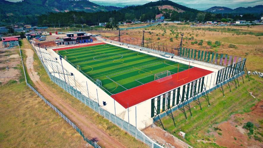 Avances en la construcción de Gatorade Arena en San José Pinula. (Foto: Gatorade Arena)