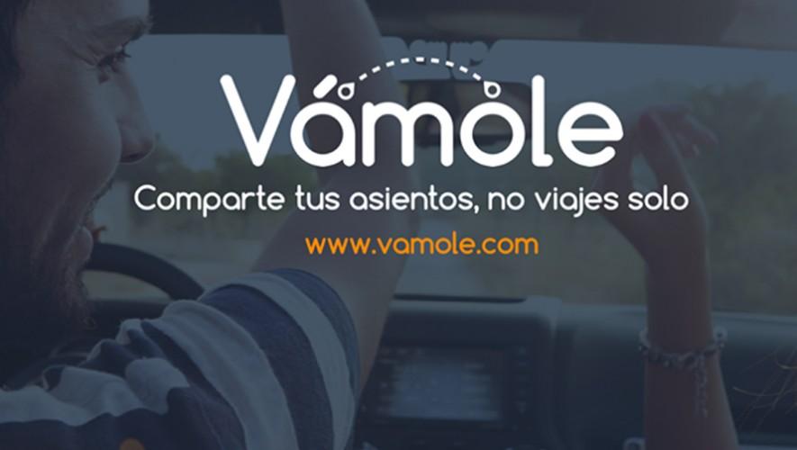 La aplicación guatemalteca Vámole busca reducir el tráfico en la ciudad de Guatemala y generar una cultura para compartir. (Foto: Facebook Vámole)