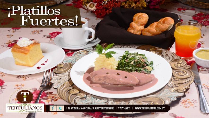 Tertulianos en Quetzaltenango ofrece diferentes platillos de calidad internacional a los comensales. (Foto: Facebook Tertulianos Restaurante & Museo)