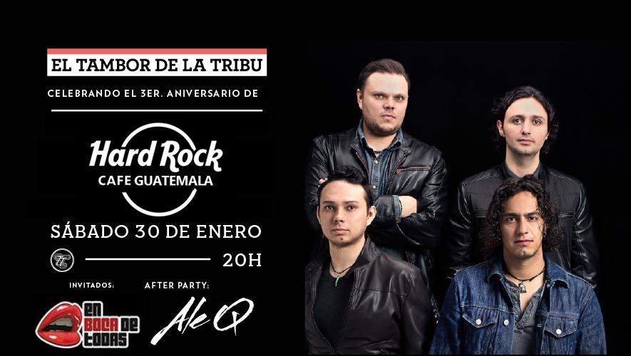 Tercer aniversario de Hard Rock Café con El Tambor de la Tribu y Ale Q | Enero 2016