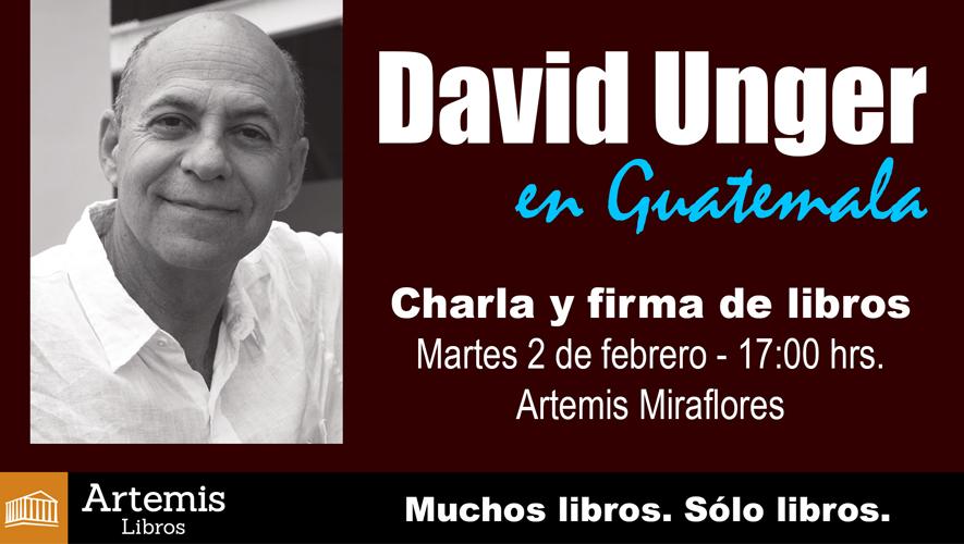 Firma de libros de David Unger en Artemis Miraflores | Febrero 2016
