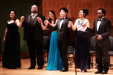 De izquierda a derecha: Adriana González, William Davenport, Fatma Said, Sehoon Moon, Anna Rajah y Will Liverman.