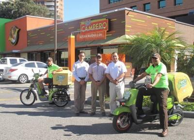 """Pollo Campero implementó el """"eco delivery"""" en sus restaurantes para ayudar al medio ambiente. (Foto: Zona Verde GT)"""