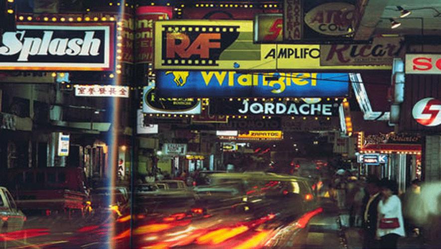 Así lucía la Sexta Avenida de la zona 1 en 1988. (Foto: National Geographic)
