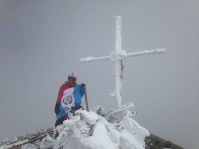 Pami Mendizabal en el Pico de Orizaba, México. (Foto: Pami Mendizabal)