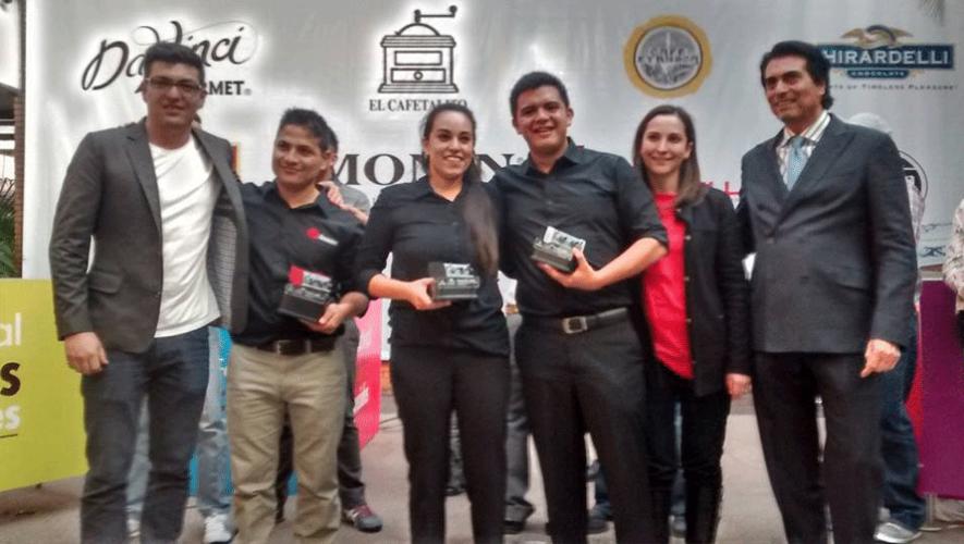 José de la Peña, Gabriela Santacruz y Pedro Martínez son los mejores baristas de Guatemala del 2016. (Foto: Escuela de Café Guatemala)