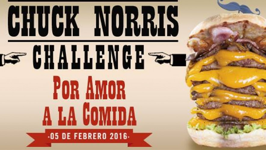 chuck norris challenge burger stop febrero 2016. Black Bedroom Furniture Sets. Home Design Ideas