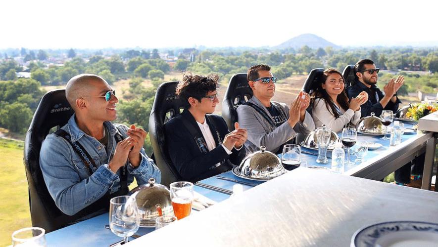 En marzo podrás disfrutar de una experiencia de gran altura en Guatemala. (Foto: Dinner in The Sky México)