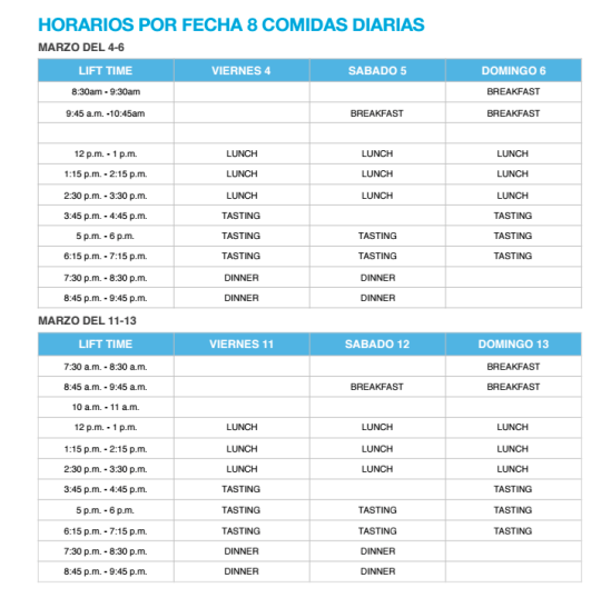 Horarios Dinner In The Sky Guatemala