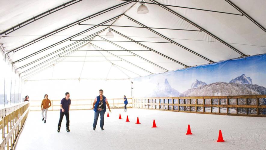 Podrás encontrar una pista de hielo en Pradera Concepción. (Foto: Pradera Concepción)