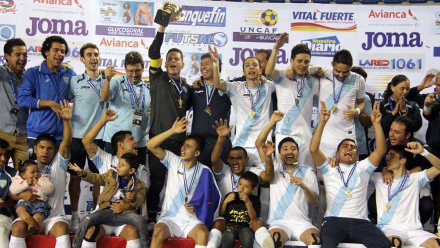 Las Selección de Futsal se coronó con el título en la eliminatoria de la UNCAF. (Foto: CDAG - Confederación Deportiva Autónoma)
