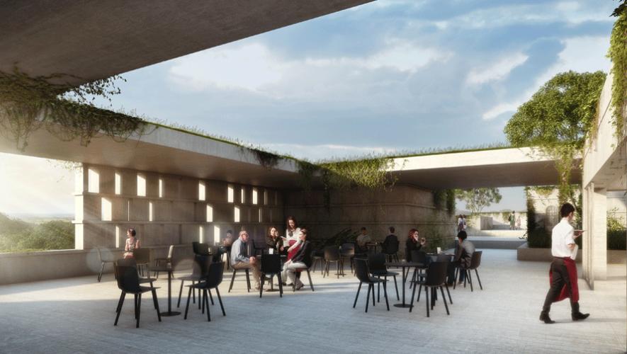 Los planos incluyen una terraza al aire libre. (Foto: Museo Maya de América)