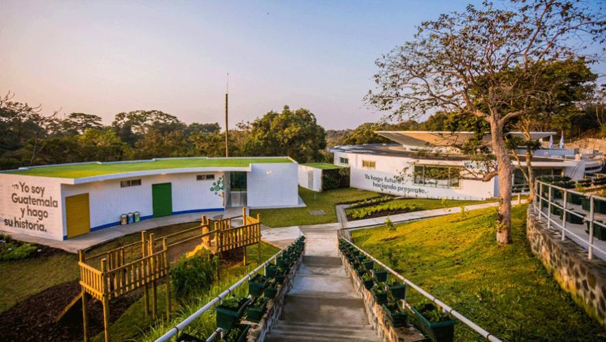 Instalaciones de la segunda escuela de Fundación Adentro situada en San Juan Alotenango. (Foto: AGN)