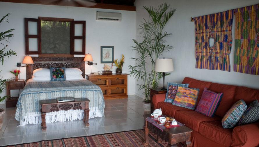 Habitaciones del hotel La Lancha