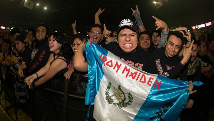 Los guatemaltecos estuvieron presentes en el concierto de Iron Maiden en El Salvador. (Foto: Iron Maiden)