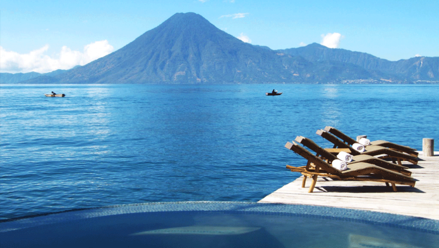 Vista desde Laguna Lodge en Santa Cruz La Laguna (Foto: Trivago)