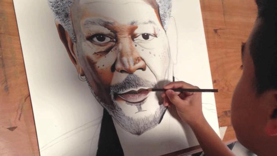 Con tan solo 15 años, Alejandro Requena crea impresionantes retratos. (Foto: Alejandro Requena Art)