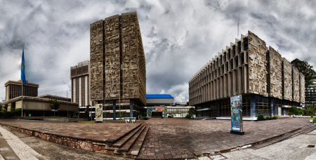 Los edificios del Crédito Hipotecario Nacional y del Banco de Guatemala. (Foto: Flickr Marito P)