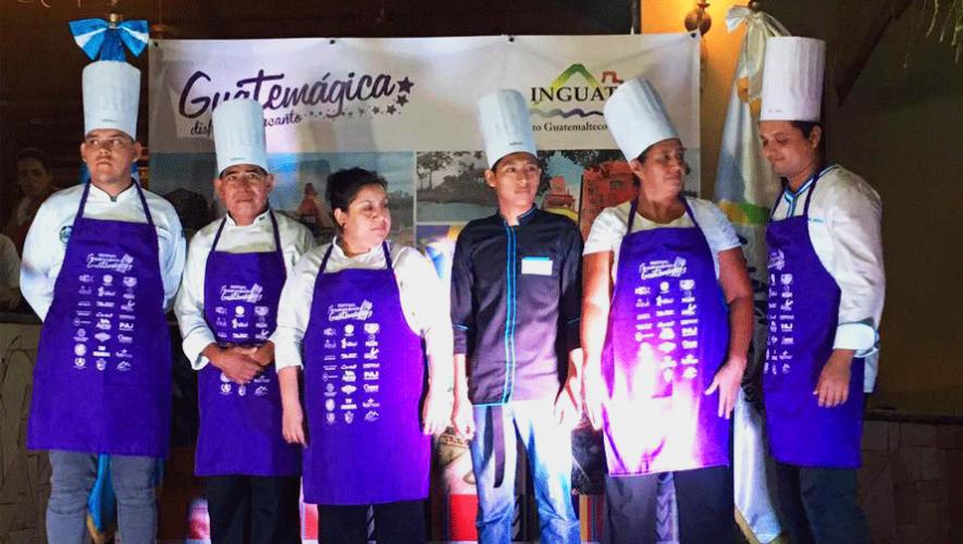 Algunos de los chefs ganadores del II Festival Gastronómico Guatemágica. (Foto: Festival Gastronómico Guatemágica)