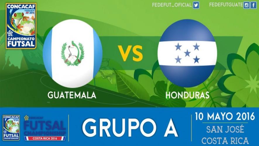 Partido de Guatemala vs. Honduras, Premundial de Futsal CONCACAF | Mayo 2016