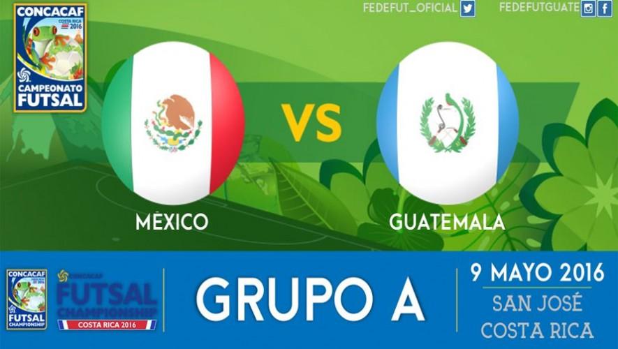 Partido de México vs Guatemala, Premundial de Futsal CONCACAF   Mayo 2016