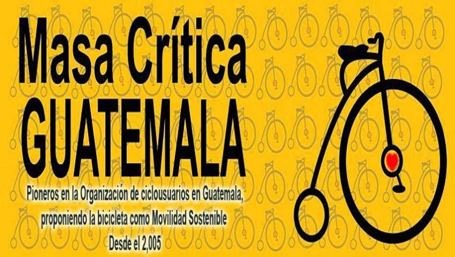 Recorrido en bicicleta de Masa Crítica Guatemala   Junio 2016
