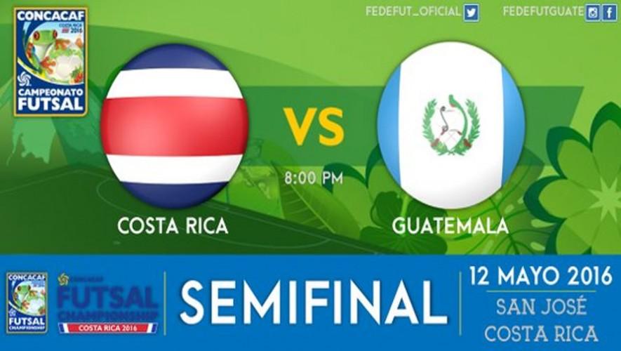 Partido de semifinal Costa Rica vs Guatemala, premundial de Futsal 2016