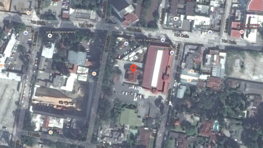 Ubicación de la casa en la que se filmó la película guatemalteca Exorcismo Documentado.