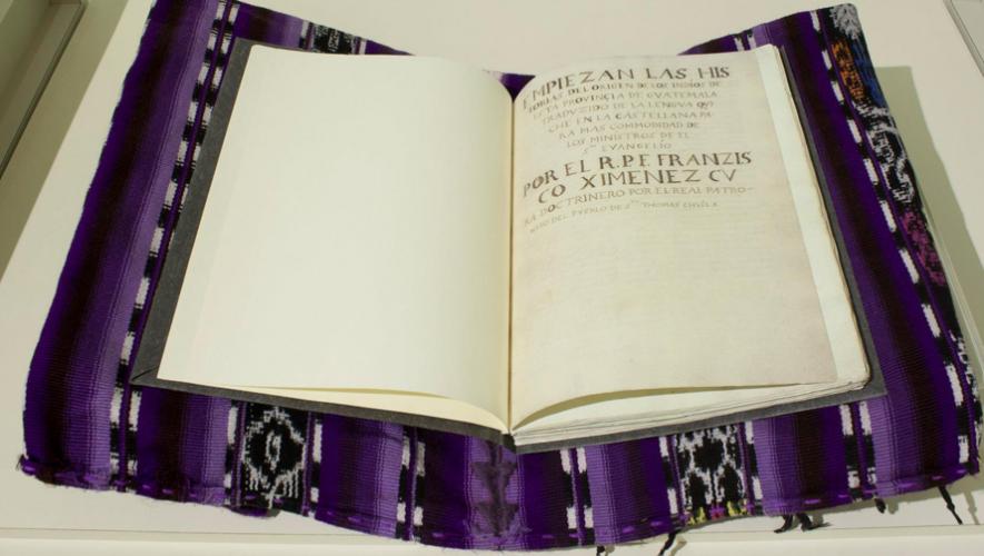 Copia del manuscrito del Popol Vuh. (Foto: Museo del Popol Vuh)