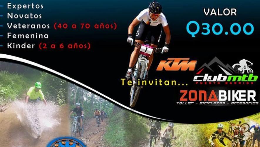 Gran competencia de ciclismo de montaña en Puerto Barrios | Mayo 2016