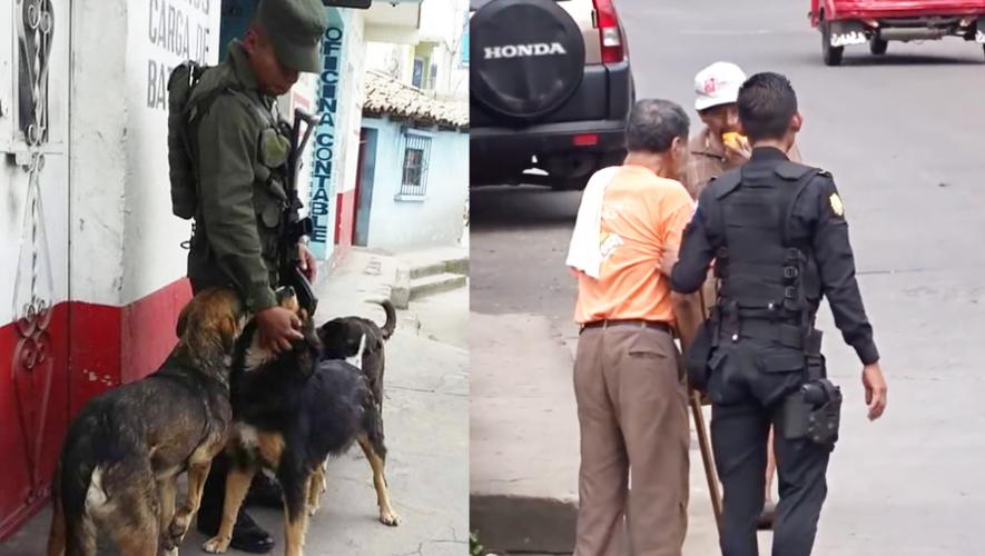 Algunas acciones de los guatemaltecos quedaron registradas en las redes sociales (Foto: Facebook Stereo 100 / Canal 46)