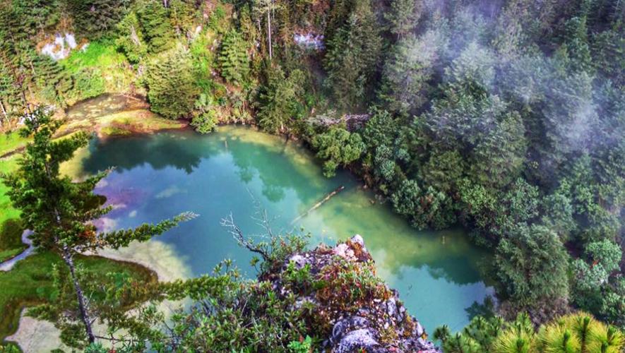 Así luce la Laguna Magdalena en Huehuetenango al 12 de junio de 2016. (Foto: Go Extreme)